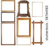 Set Of 9 Wooden Picture Frames...