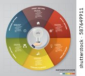 infographic design template 6... | Shutterstock .eps vector #587649911