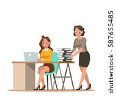 set of business characters... | Shutterstock .eps vector #587655485