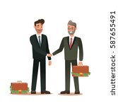 set of business characters... | Shutterstock .eps vector #587655491