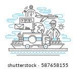delivery service plain line... | Shutterstock .eps vector #587658155