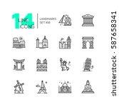 landmarks   vector modern... | Shutterstock .eps vector #587658341