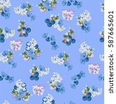 vintage seamless  pattern with... | Shutterstock .eps vector #587665601