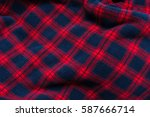 close up background of plaid... | Shutterstock . vector #587666714