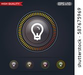 light bulb icon. button with...