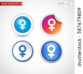 sex icon. button with sex icon. ...   Shutterstock .eps vector #587679809