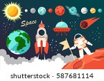 conquest of space. | Shutterstock .eps vector #587681114