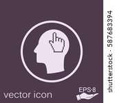 vector icon head think... | Shutterstock .eps vector #587683394