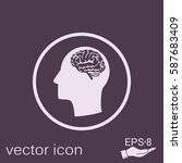 vector icon head with brain. ... | Shutterstock .eps vector #587683409