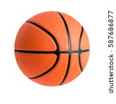 basketball ball over white... | Shutterstock . vector #587686877