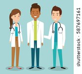 medical staff group avatars | Shutterstock .eps vector #587697161