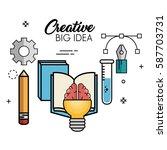 creative big idea icons | Shutterstock .eps vector #587703731