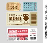 cinema ticket entrance icon | Shutterstock .eps vector #587703851