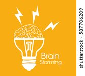 brain storming concept icon   Shutterstock .eps vector #587706209