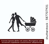 family icon  vector... | Shutterstock .eps vector #587707931