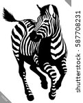black and white linear paint... | Shutterstock .eps vector #587708231