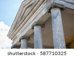 ionic columns on classical... | Shutterstock . vector #587710325