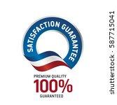 satisfaction guarantee blue... | Shutterstock .eps vector #587715041