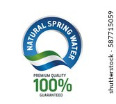 natural spring water blue... | Shutterstock .eps vector #587715059