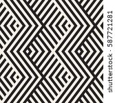 abstract zigzag parallel... | Shutterstock .eps vector #587721281