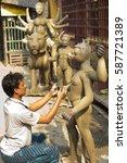 kolkata  india   january 10 ... | Shutterstock . vector #587721389