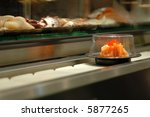 Salmon Sushi In A Conveyor Bel...