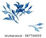 clip art hand painted... | Shutterstock . vector #587734055