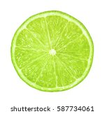 lime slice isolated without...   Shutterstock . vector #587734061