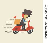 fast delivery service  speed... | Shutterstock .eps vector #587736479