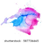 colorful abstract watercolor...   Shutterstock .eps vector #587736665