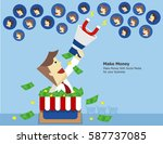 the powerful of make money with ... | Shutterstock .eps vector #587737085