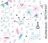 celebration festive seamless... | Shutterstock .eps vector #587739167