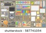 vector set. objects for design... | Shutterstock .eps vector #587741054