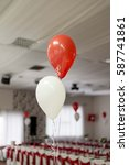 Small photo of wedding decoration with balloons