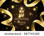vip invitation members only ... | Shutterstock .eps vector #587745185