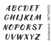 vector handwritten alphabet.... | Shutterstock .eps vector #587745551