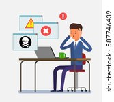 concept of computer viruses ... | Shutterstock .eps vector #587746439