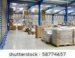 warehouse interior and pallets... | Shutterstock . vector #58774657