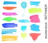 color highlight stripes ... | Shutterstock .eps vector #587746829