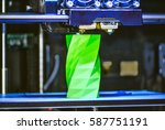 3d printer works and creates an ... | Shutterstock . vector #587751191