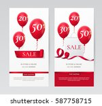set of stylish vertical banners ... | Shutterstock .eps vector #587758715