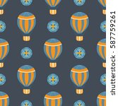 vector seamless pattern with... | Shutterstock .eps vector #587759261