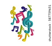 music notes symbol icon vector... | Shutterstock .eps vector #587759651