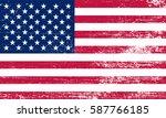 grunge american flag.vector... | Shutterstock .eps vector #587766185