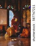 taunggyi  myanmar   feb 08  a... | Shutterstock . vector #587767211