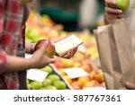 Small photo of checking list customer at market