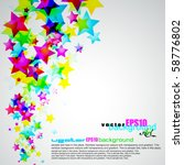 abstract rainbow stars flyer... | Shutterstock .eps vector #58776802