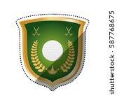 golf game sport icon vector...   Shutterstock .eps vector #587768675