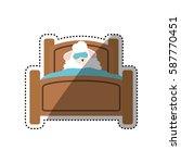 sheep sleeping cartoon icon...   Shutterstock .eps vector #587770451
