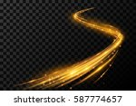 magic gold light effect | Shutterstock .eps vector #587774657